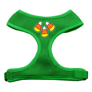 Candy Corn Design Soft Mesh Harnesses Emerald Green Extra Large