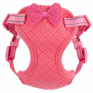 Pet Life ® 'Flam-Bowyant' Mesh Reversible And Breathable Adjustable Dog Harness W/ Designer Bowtie