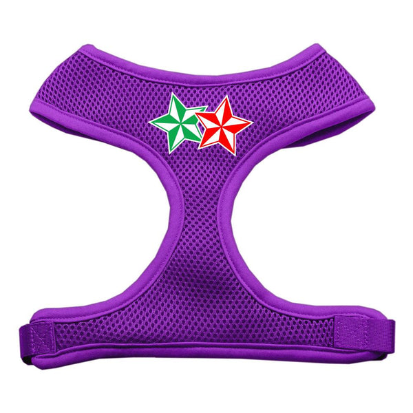 Double Holiday Star Screen Print Mesh Harness Purple Medium