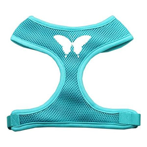 Butterfly Design Soft Mesh Harnesses Aqua Large