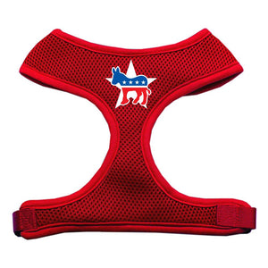 Democrat Screen Print Soft Mesh Harness Red Extra Large