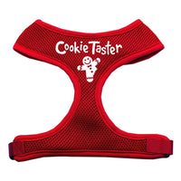Cookie Taster Screen Print Soft Mesh Harness Red Medium