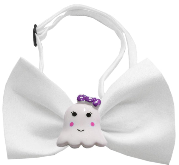 Girly Ghost Chipper White Bow Tie