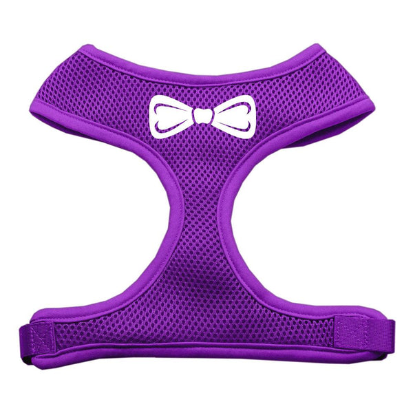 Bow Tie Screen Print Soft Mesh Harness Purple Extra Large