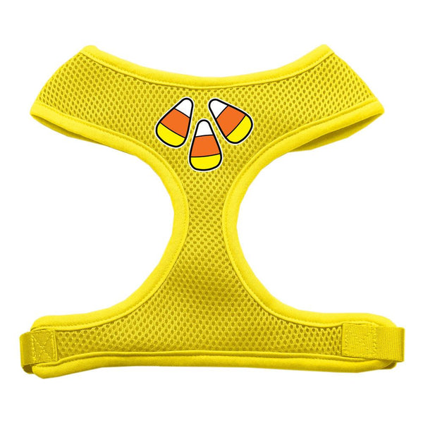 Candy Corn Design Soft Mesh Harnesses Yellow Large