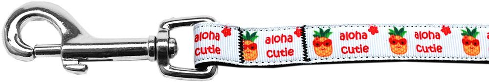 Aloha Cutie Nylon Ribbon Pet Leash 5/8 inch wide 6Ft Lsh