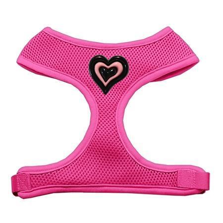 Black and Pink Hearts Chipper Pink Harness