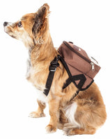 Pet Life ® 'Mooltese' Large-Pocketed Compartmental Animated Dog Harness Backpack