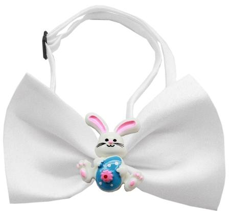 Easter Bunny Chipper White Bow Tie