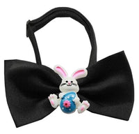Easter Bunny Chipper Black Bow Tie
