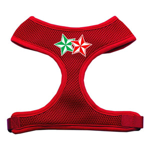Double Holiday Star Screen Print Mesh Harness Red Large