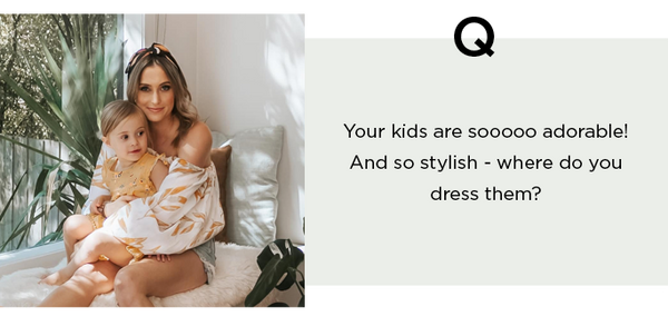 question your kids are so stylish, where do you dress them?