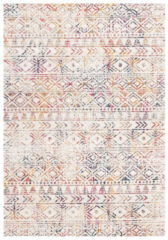 Topanga Ivory and Multicolour Tribal Pattern Rug