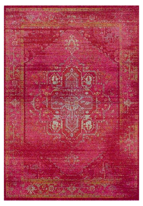 Fayyum Red Egyptian Overdyed Floor Rug
