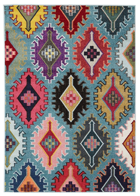 Tabriz Blue Modern Tribal Rug