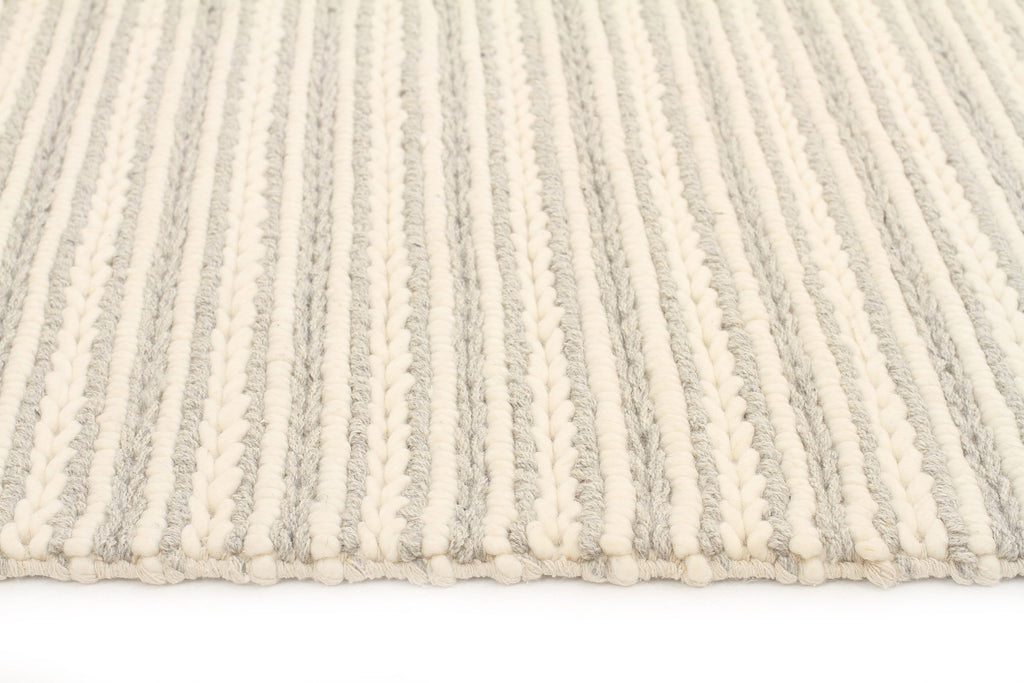 Kelso Grey Amp Cream Chunky Braided Wool Rug
