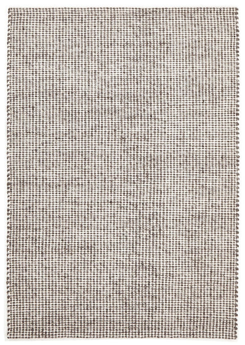 Voss Grey Brown Felted Wool Hand-Knotted Rug