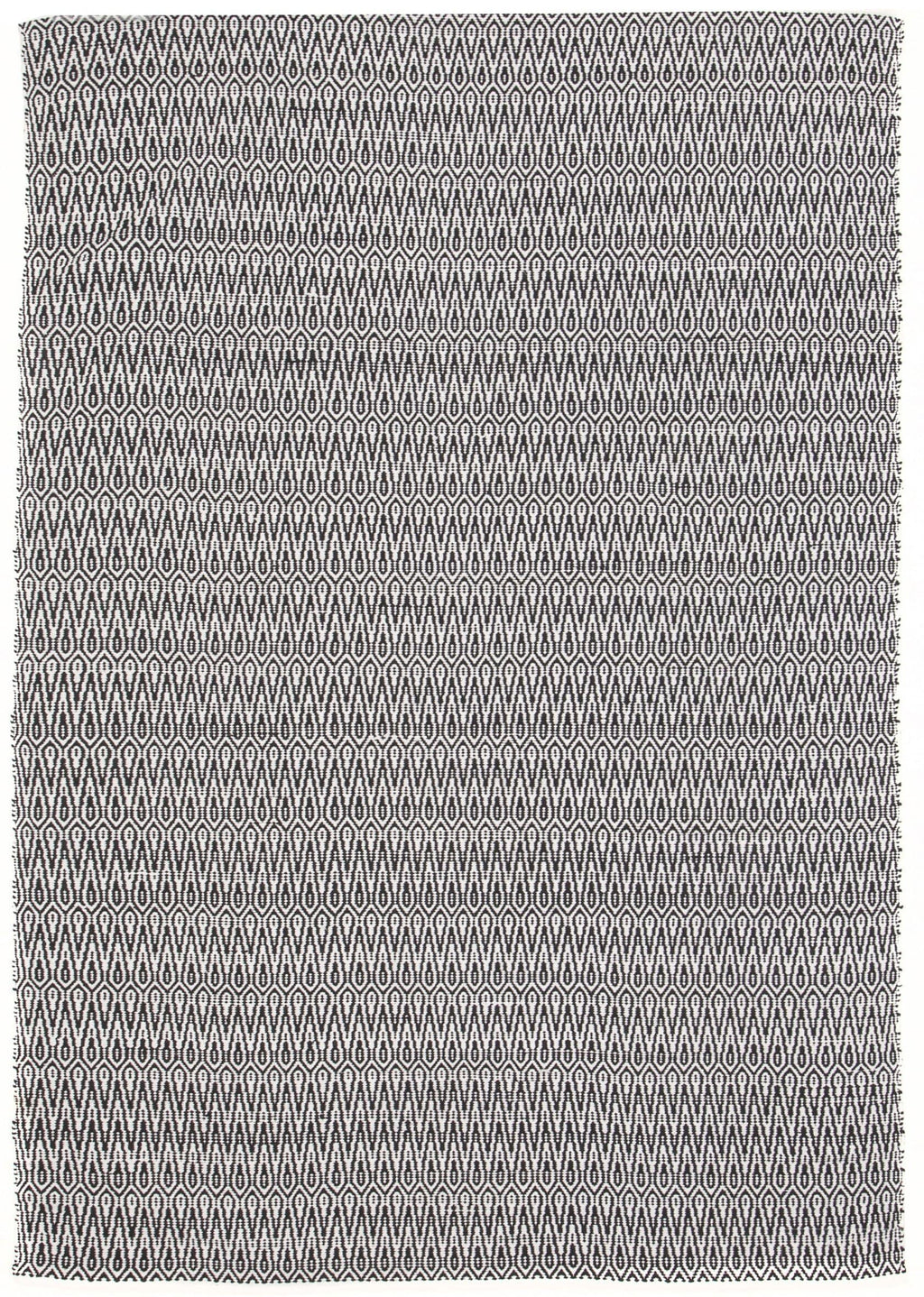 Edmonton Black & White Handloomed Rug