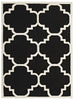 Tours Black and White Lattice Flatweave Dhurrie Rug