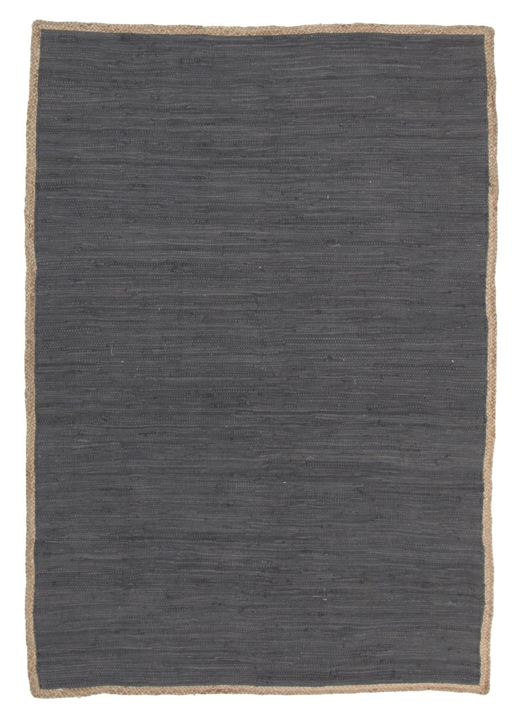 Arica Charcoal Cotton & Natural Jute Rug