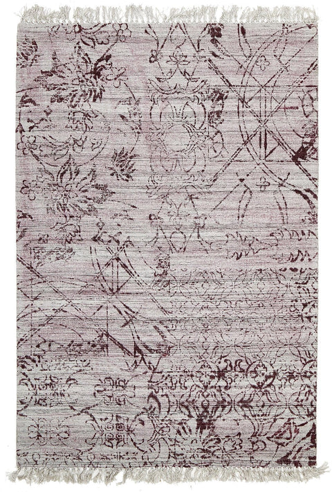Rosario Berry Tribal Fringed Viscose Rug