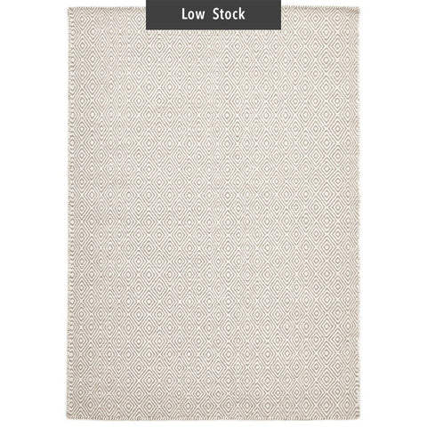 Imatra Natural Grey Diamond Flatweave Rug (Low Stock)