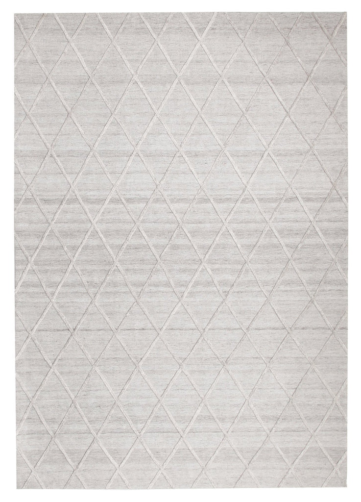 Augusta Lattice Wool & Viscose Hand-Loomed Rug