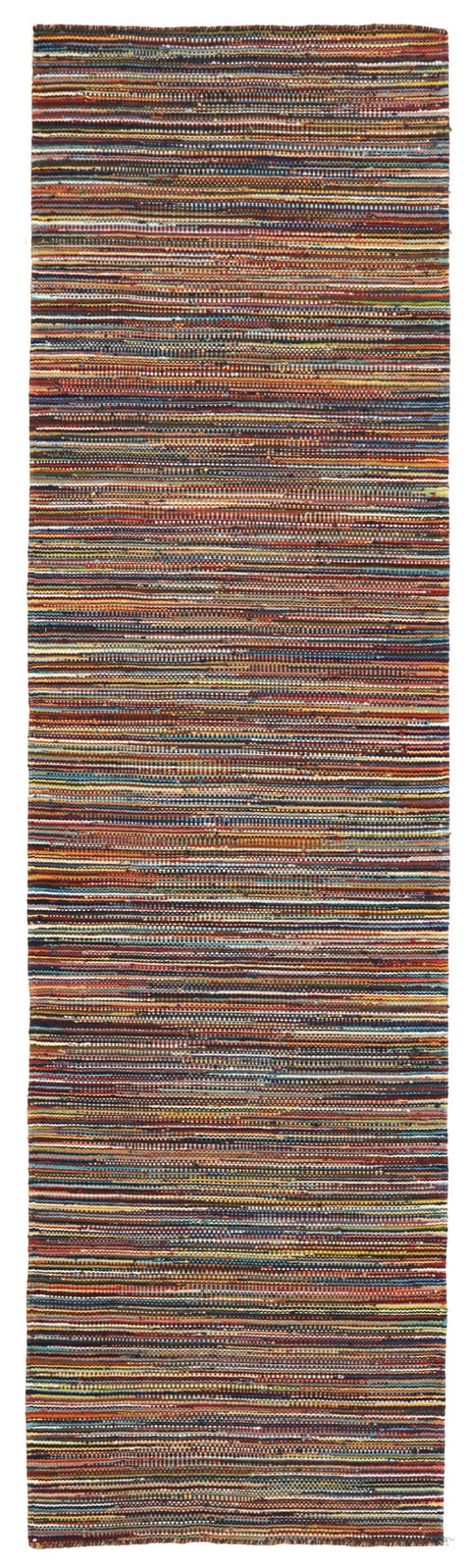 Kathmandu Multi-Colour Striped Wool Kilim Runner Rug