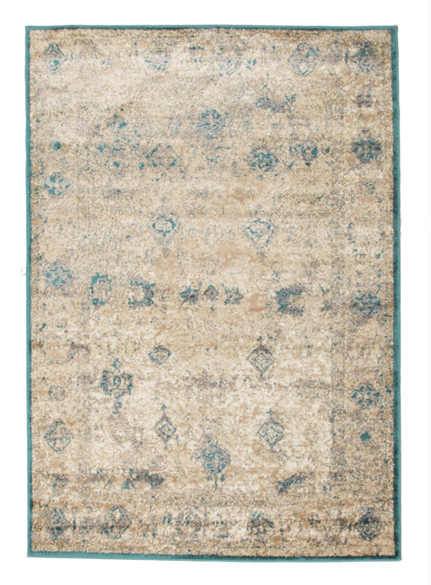 Tartu Teal Antique Look Abrash Rug