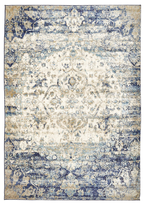 Arak Blue & Beige Abrash Transitional Rug