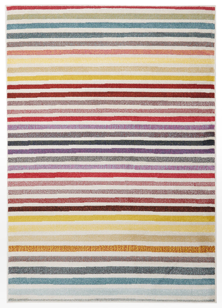 Palermo Multi-Colour Horizontal Stripe Rug