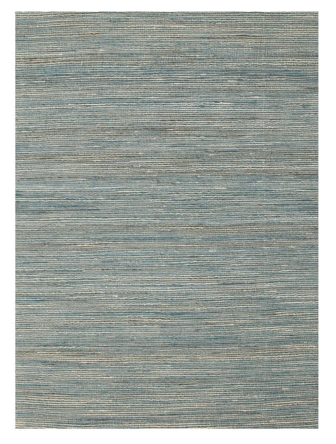 Lanikai Teal Striped Hemp Rug