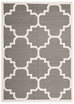 Toulouse Grey Lattice Flatweave Dhurrie Rug