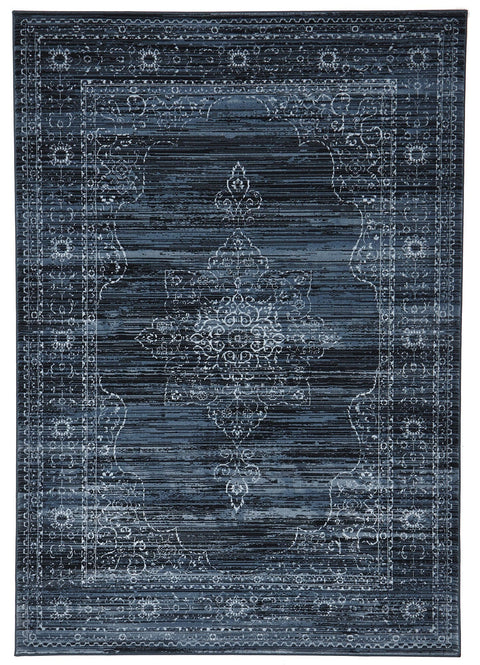 Soma Delicate Traditional Style Blue Rug