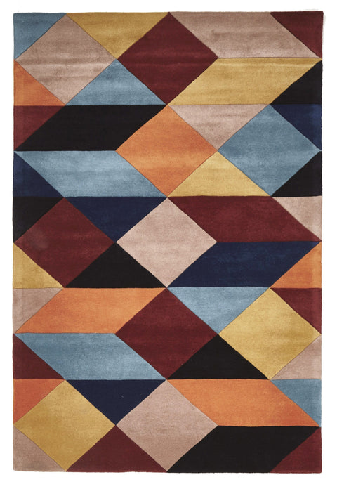 Bremen Land & Sea Geometric Wool Rug