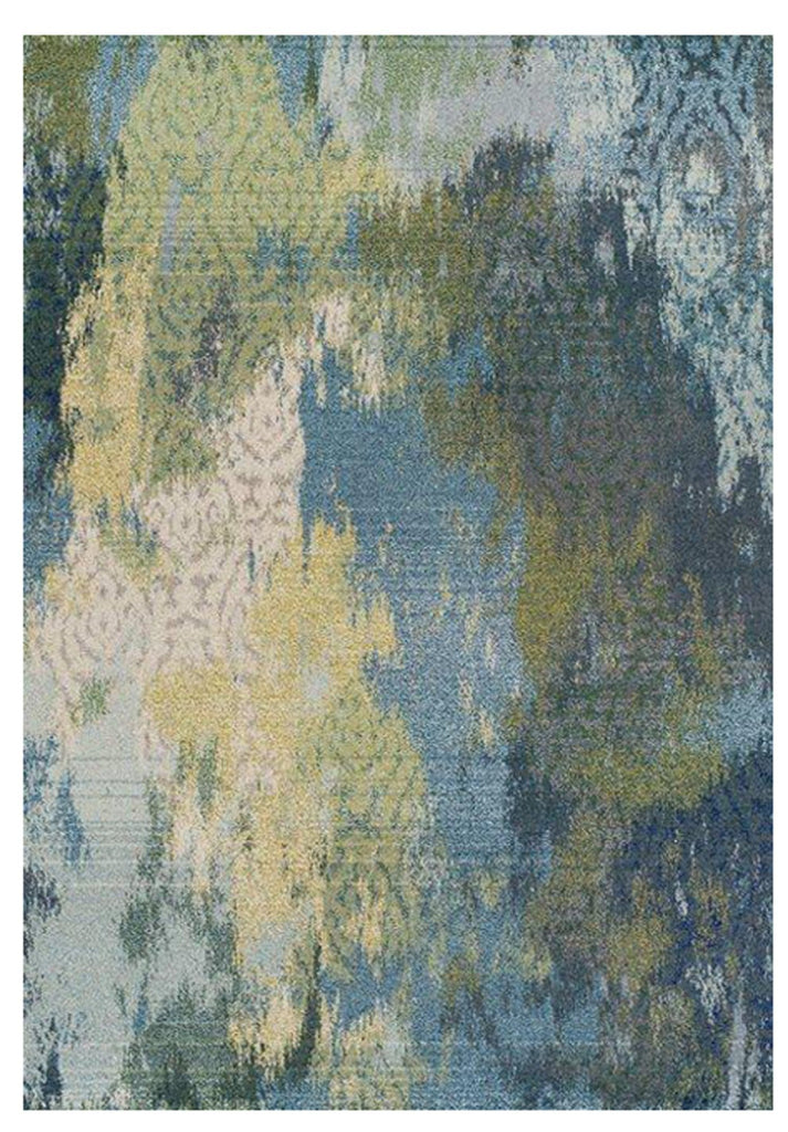 Mallawi Blue Green Overdyed Egyptian Floor Rug