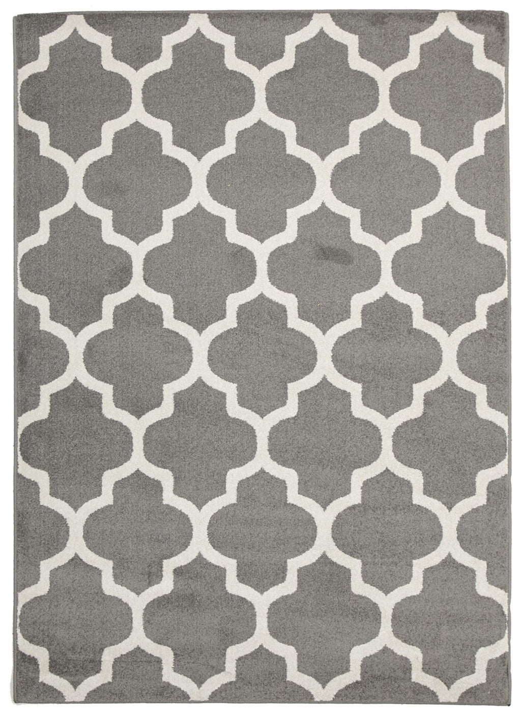 Touraine Grey Trellis Indoor Outdoor Rug