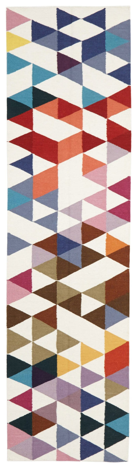 Ålesund Multi-Colour Mosaic Wool Runner Rug
