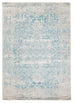 Dalvic Ivory & Ice Blue Distressed Transitional Rug