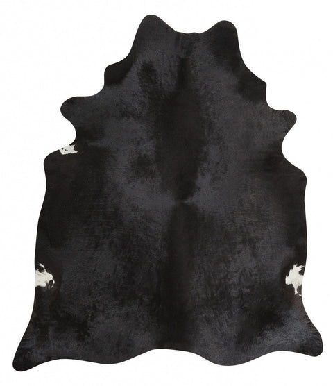 Bluemenau Black Brazilian Cow Hide Rug