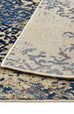 Amasya Blue Motif Faded Transitional Rug