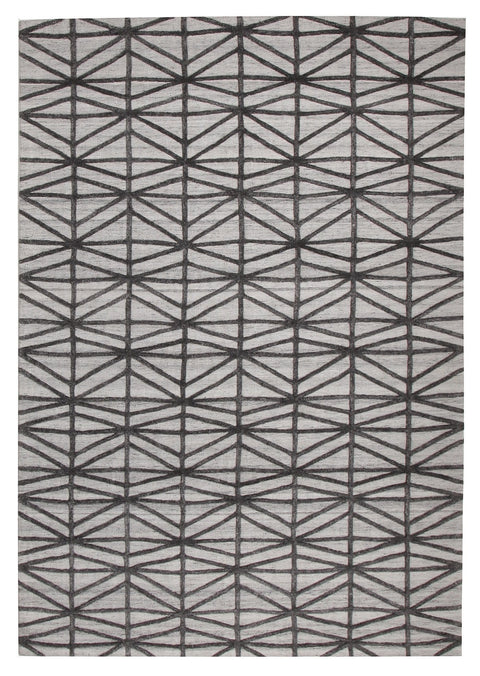 Danbury Grey Lattice Textured Rug