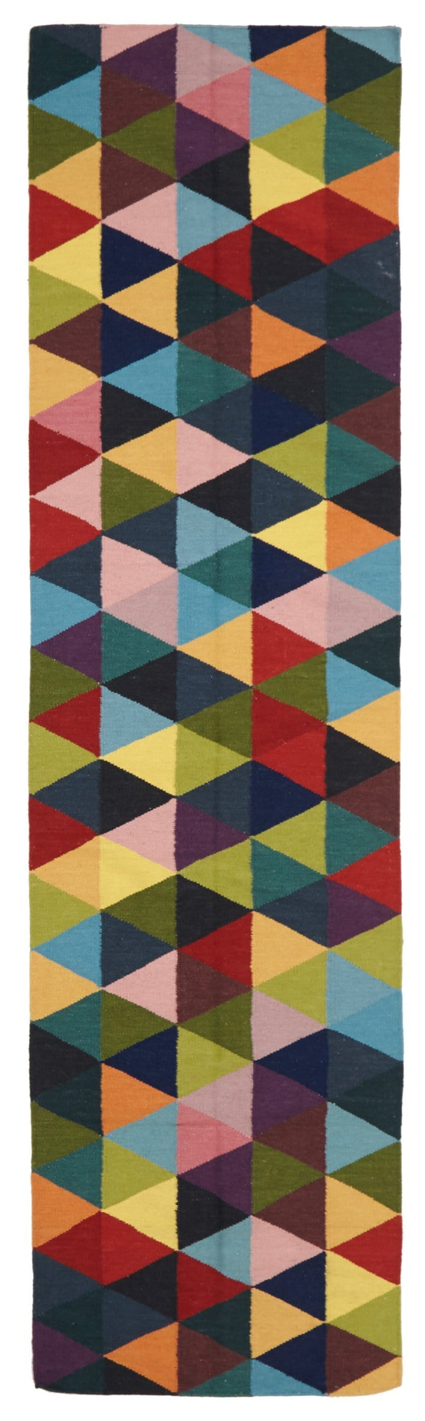 Bergen Multi-Colour Mosaic Wool Runner Rug