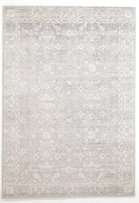 Taraz Grey Floral Motif Transitional Rug