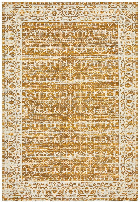 Alaca Mustard Yellow Transitional Rug