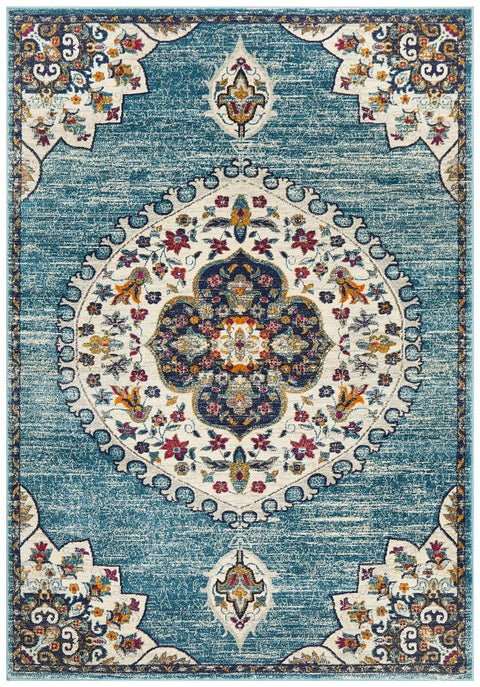 Alegria Blue Traditional Medallion Rug