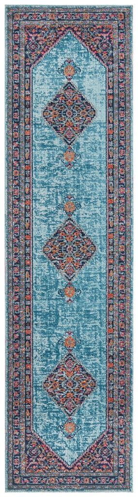 Alexandria Multi-Colour Distressed Transitional Runner Rug