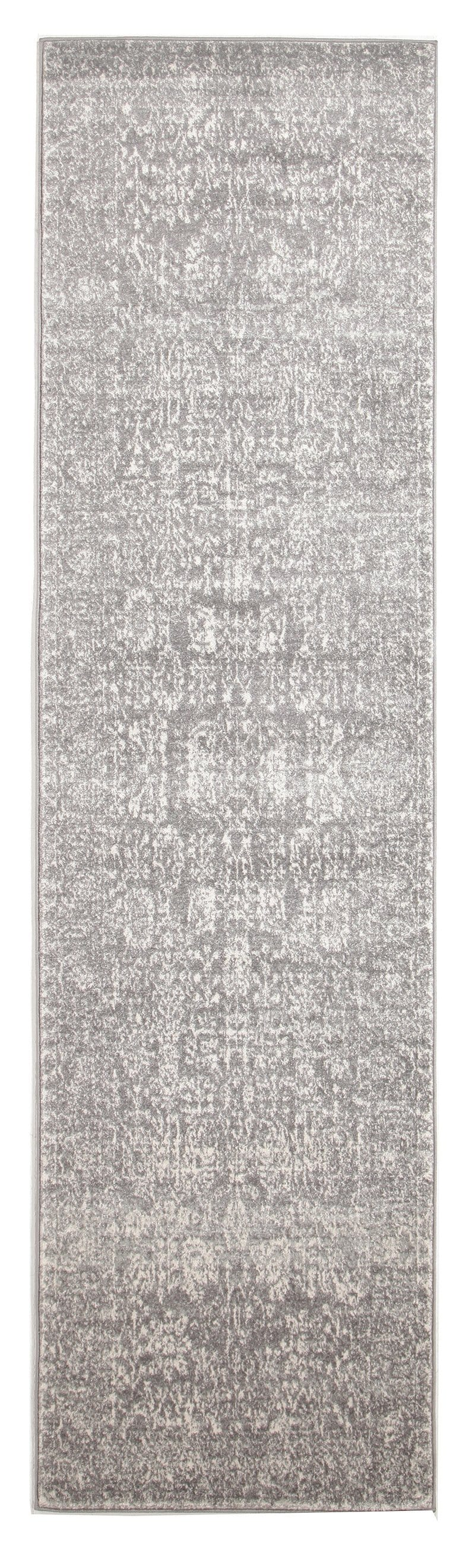 Almeria Soft Grey & White Persian Runner Rug
