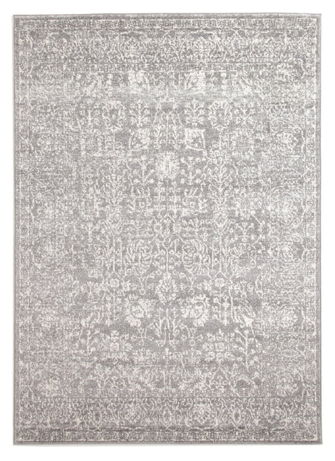 Almeria Soft Grey & White Persian Transitional Rug