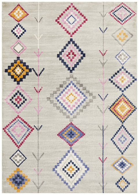 Alora Silver & Multi Colour Tribal Rug
